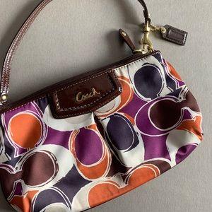 Multi-color Coach purse